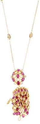 Ruby & Diamond Pendant Necklace