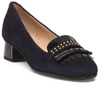 Made In Italy Suede Kiltie Heels