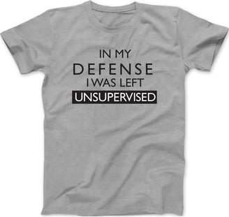 ad20444a7682 Trunk Candy Mens In My Defense I Was Left Unsupervised Cotton T-Shirt