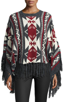 RAGA Aztec Dreams Fringed Sweater, Gray $85 thestylecure.com