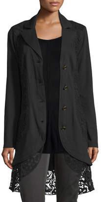 XCVI Paisley Crochet-Detailed Jacket, Plus Size