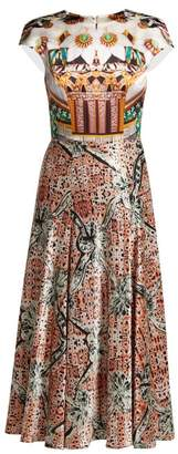 Mary Katrantzou Caramolengo Jewel Print Silk Dress - Womens - Multi