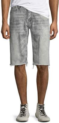 PRPS Men's Faded Raw-Hem Denim Shorts