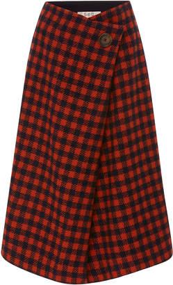 Sea Ethno Pop A-Line Wrap Skirt