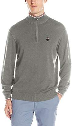Psycho Bunny Men's Pima Cotton 1/4 Zip Sweater