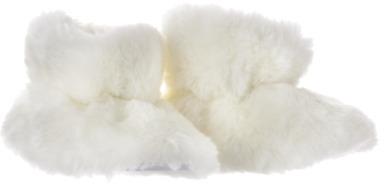 Cherokee Newborn Girls' Slide Slipper - White