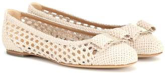 Salvatore Ferragamo Varina woven leather ballet flats