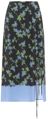 Altuzarra Felice floral silk midi skirt