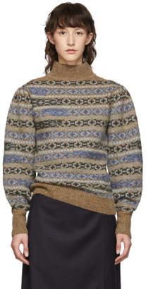 Etoile Isabel Marant Multicolor Knit Ned Fair-Isle Sweater