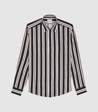 Reiss Keenum - Bold Striped Shirt in Gold