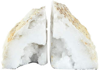 A&B Home Ab Home Natural Geode Bookends, Set of 2