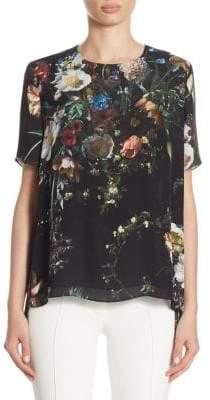 ADAM by Adam Lippes Floral Silk Blouse