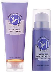 Hummingbird Farms Lavender Heavy Cream &Body Wash Set