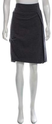 Brunello Cucinelli Gathered Wool Skirt