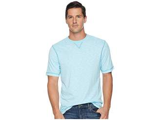 True Grit Heritage Slub Classic Fit Pigment Dyed Short Sleeve Knit Crew with Contrast Coverstitch