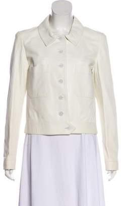 Chanel Leather Long Sleeve Jacket