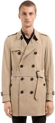 Burberry Kensington Cotton Gabardine Trench Coat