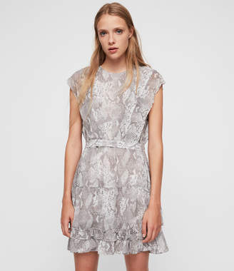 AllSaints Evely Snake Dress