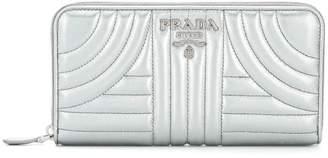 Prada Diagramme zip wallet