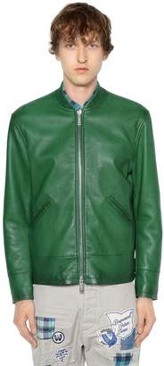 DSQUARED2 Leather Bomber Jacket