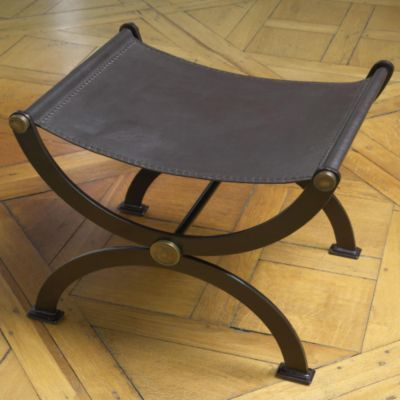 Devon Iron Leather Bench