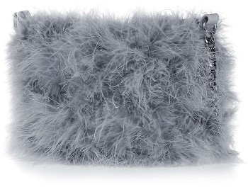 TopshopTopshop Faye Marabou Feather Bag - Grey