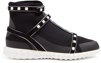 Valentino Free Rockstud Bodytech high-top trainers