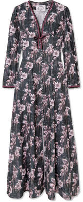 Evi Grintela - Irving Floral-print Cotton-corduroy Maxi Dress - Black