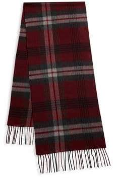 Saks Fifth Avenue Exploded Plaid Cashmere Scarf