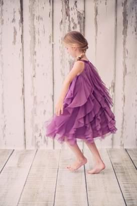 Kids Dream Zoe- Mesh Ruffle Dress Purple