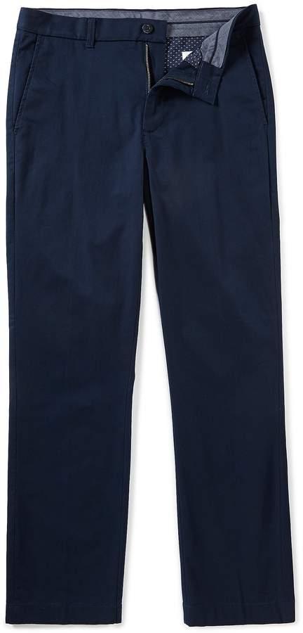 Rowm ROWM Flat-Front Washed Stretch Twill Chino Pants
