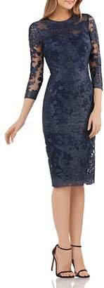 JS Collections Embroidered Lace Dress