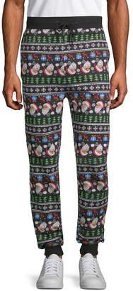 NOVELTY SEASON Ugly Christmas Santa Joggers