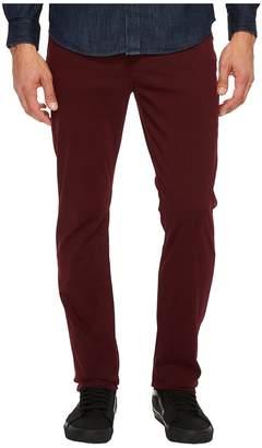 Hudson Blake Slim Straight Twill in Burgundy Men's Jeans