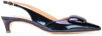 Rupert Sanderson stone embellished slippers