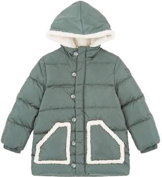 Il Gufo Contrast Pocket Trim Puffer Coat