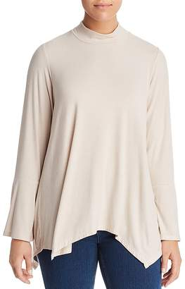 Bobeau B Collection by Curvy Anna Striped Bell-Sleeve Top