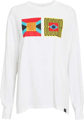 Proenza Schouler Pswl Logo Jersey Long-Sleeve T-Shirt