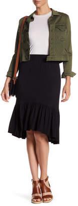 Bobeau Hi-Lo Flounce Skirt $42 thestylecure.com
