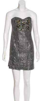 Mark & James by Badgley Mischka by Badgley Mischka Embellished Strapless Dress w/ Tags