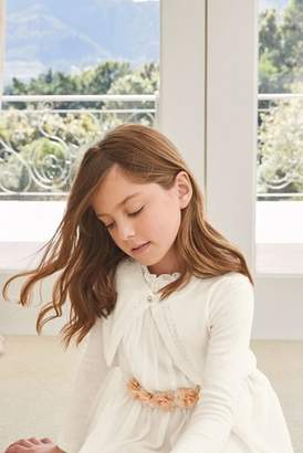 Next Girls Ecru Pearl Effect Button Shrug (3-16yrs)