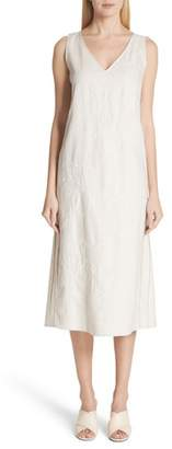 Lafayette 148 New York Duncan Embroidered Linen Dress