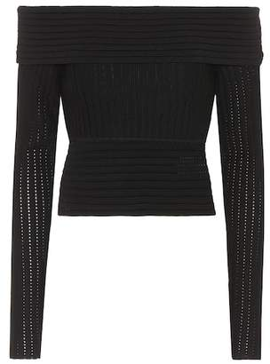 Diane von Furstenberg Wool-blend off-the-shoulder top