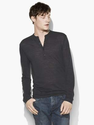 John Varvatos Straited Long Sleeve Henley