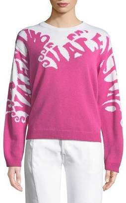 Valentino Waves Long-Sleeve Cashmere Sweater