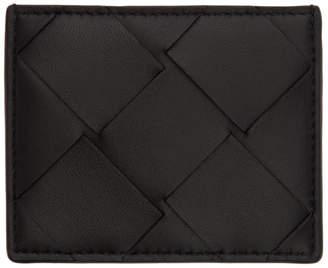 Bottega Veneta Black Macro Intrecciato Card Holder