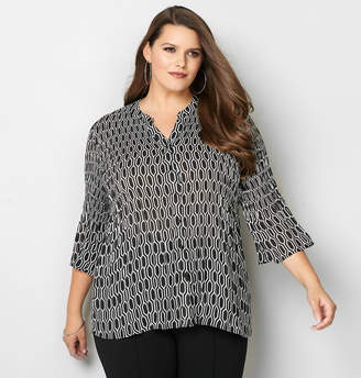 Avenue Honeycomb Crinkle Blouse