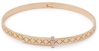 Bottega Veneta Intrecciato 18kt Gold & Diamond Bracelet - Womens - Gold