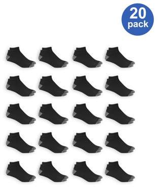 Athletic Works Men's Athletic Cushioned Low Cut Socks Value 20 Pack