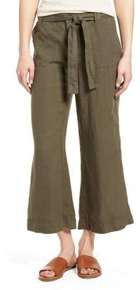 Caslon Wide Leg Crop Linen Pants